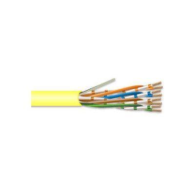 SUPERIOR ESSEX CAT-6 SOLID PLENUM CABLE 24/4 PR. UTP COMP (PER 1000 FT.) (YELLOW)