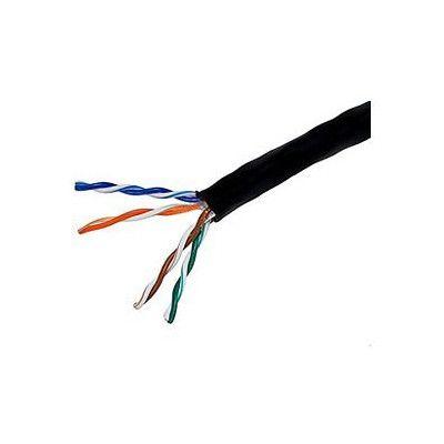 SUPERIOR ESSEX CAT-5e SOLID PLENUM CABLE 24/4 PR. UTP COMP (PER 1000 FT.) (BLACK)