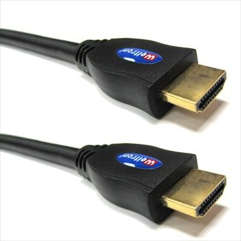 WELTRON HDMI-1.3V GOLD PLATED WITH BLACK RUBBER JACKET WITH FERRITE CORE - 8 METER