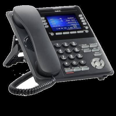 NEC ITK-8LCX-1 BK IP COLOR SELF-LABELING TELEPHONE (NEW)