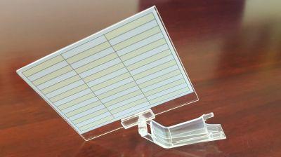 NEC DTL/ITL/DTZ/ITZ-12D/24D/32D DIRECTORY CARD KIT HOLDER (INCLUDES PLASTIC CLIP & CARD)