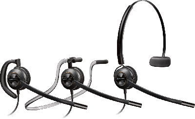PLANTRONICS HW540 ENCOREPRO CONVERTIBLE HEADSET - OVER THE HEAD WITH ADJUSTABILITY FOR OVER THE EAR - NOISE CANCELING WITH A10 CORD