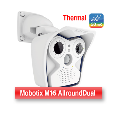 MOBOTIX WEATHERPROOF THERMOGRAPHIC DUAL M16 CAMERA WITH 45° (R079) THERMAL LENS (NEW)