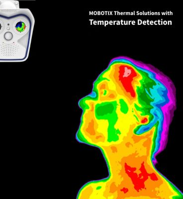 MOBOTIX TEMPERATURE DETECTION WEATHERPROOF THERMOGRAPHIC DUAL M16 CAMERA WITH 25° (R119) THERMAL LENS & 25° (B119) LENS (NEW)