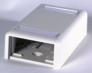 ORTRONICS DUAL SURFACE MOUNT BOX (BISCUIT) (FOG WHITE)