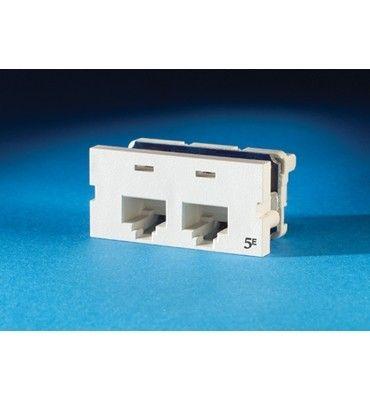 ORTRONICS CAT-5 CLARITY DUAL MODULE (FOG WHITE)