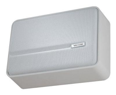 VALCOM V-1042 SLIMLINE™ ONE-WAY SPEAKER, SELF-AMPLIFIED, BUILT-IN VOLUME CONTROL (WHITE)