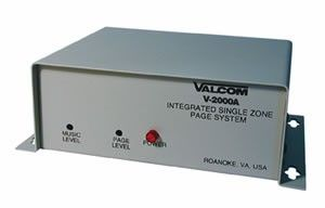 VALCOM V-2000A 1-ZONE PAGE CONTROL WITH BUILT-IN POWER SUPPLY
