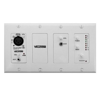 VALCOM V-9985-W IN WALL MIXER (MIC CONNECTION)