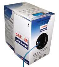 WELTRON CAT-5e SOLID PLENUM CABLE 24/4 PR. UTP COMP (PER 1000 FT.) (BLUE)