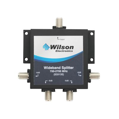 WILSON FOUR WAY 75 Ohm 700-2500 MHz SPLITTER WITH F-FEMALE CONNECTORS