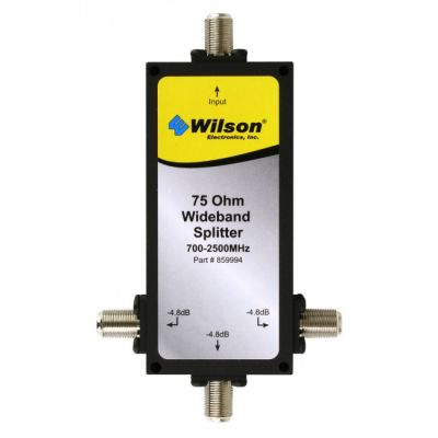 WILSON THREE WAY 75 Ohm 700-2500 MHz SPLITTER WITH F-FEMALE CONNECTORS